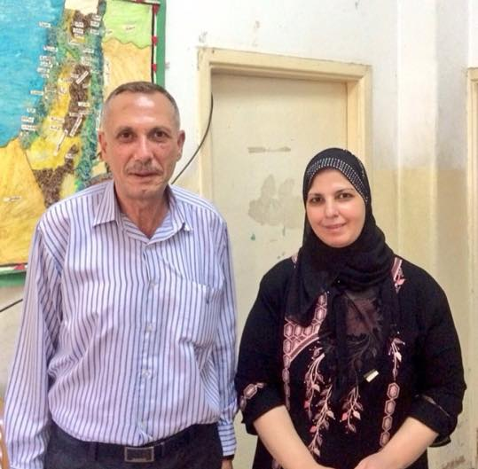 Nisreen with her late husband, Hashem Azzeh. Photo credit: Global Research