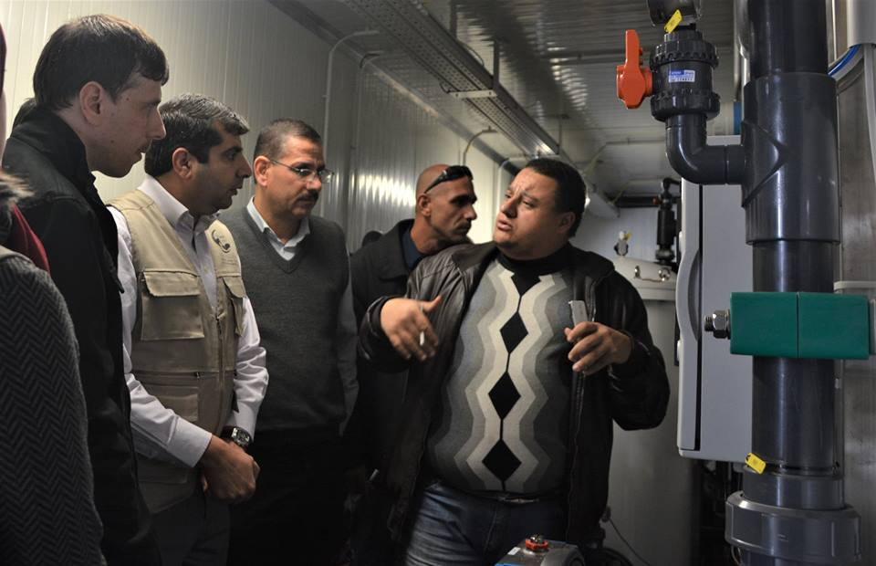 افتتاح محطة تحلية مستشفى الشفاء بغزة