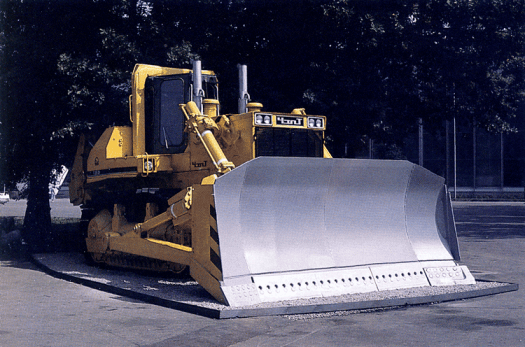 A bulldozer-ripper. Most people connect bulldozers with moving soil, but this one is designed to break up rock for removal.