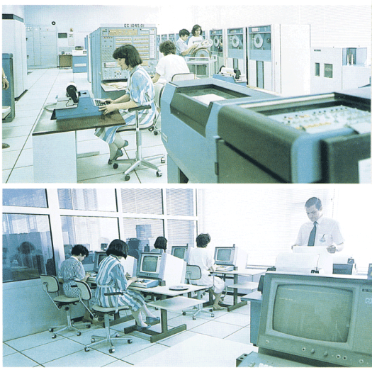Computer aided design, 1980's style: VNIIstroidormash's computer room.