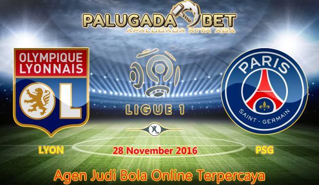 Prediksi Lyon vs PSG (Liga Prancis) 28 November 2016 - PLG