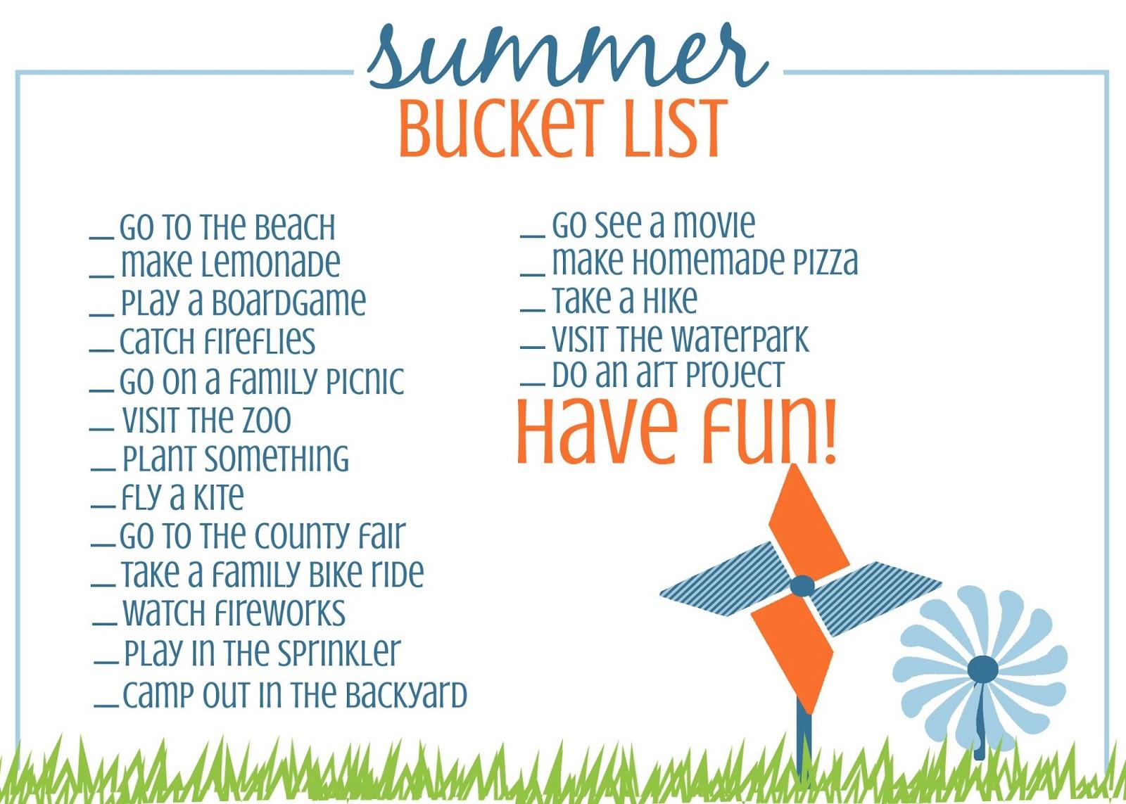 60 Days Of Summer Fun 4 The Summer Bucket List
