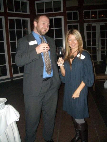 Brian Campbell, The New York Times' Books Account Manager, and Kim Hadney, Spier/WKP Account Executive, enjoy the PAMA/Metro Newspaper cocktail party on November 12th Brian