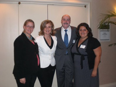 PAMA Treasurer Melissa Lord, PAMA luncheon speaker and co-founder of the Huffington Post Arianna Huffington, PAMA President David Nudo, and PAMA Secretary Christine Duplessis
