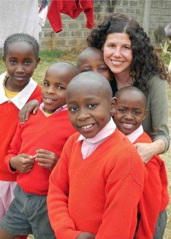 Debbie with SoH kids, 2013