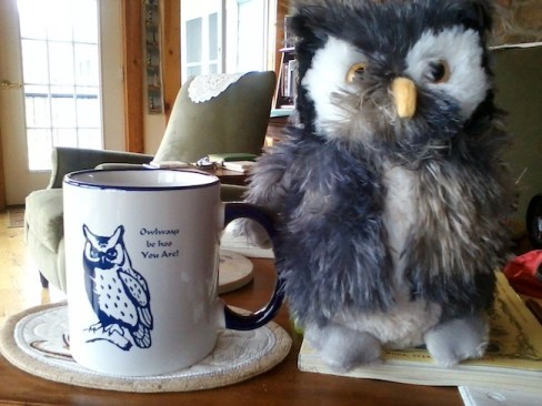 Mr. Scruffy with his mug as featured on Events