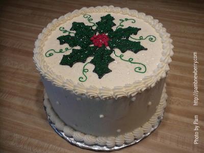 Christmas cake made by Shelia