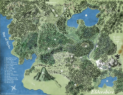 Map of Eldershire by Pam