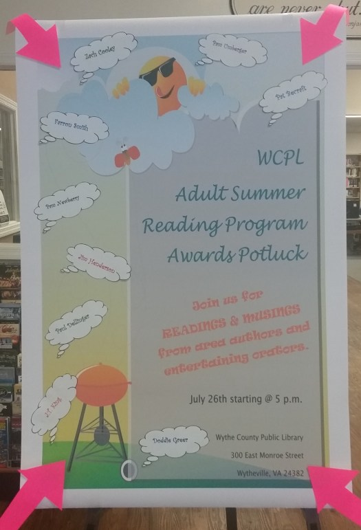 WCPL Adult Reading Program, July 26, 2018