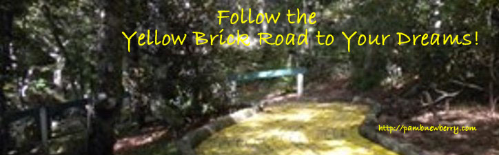 Yellow Brick Road from Emerald Mountain, NC featured in Pam's Pics and a wonderful writing retreat.