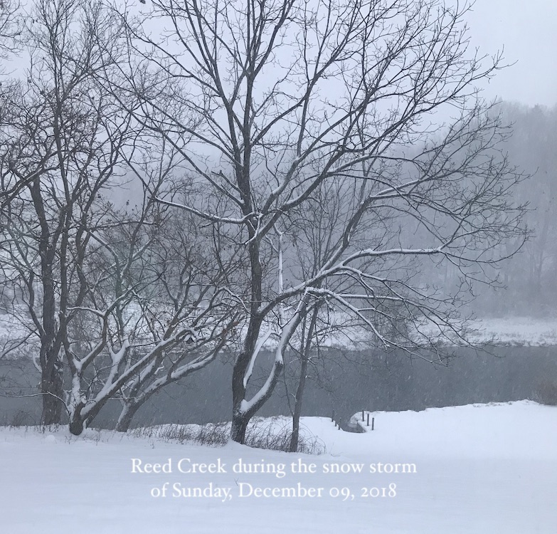 Reed Creek in the snow - an inspirational pic used to enhance my writing moods.