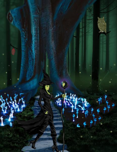 Nukpana Fraener - image of her in the forest by Julie K.