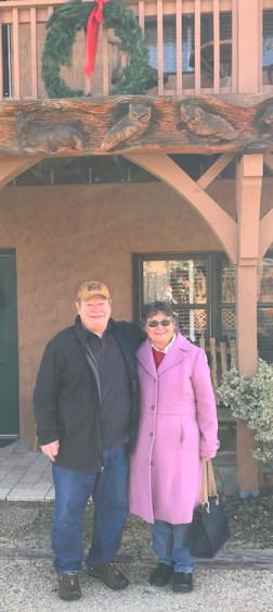 Albert and Pam in front of Hemlock Inn.