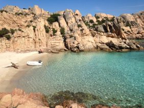 A dinghy and a dingy in Sardinia