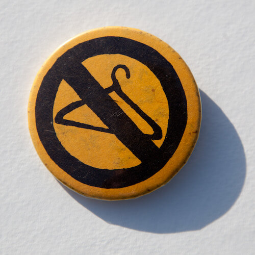 Abortion Hanger Button
