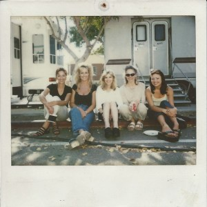 Erin Brockovich, Pam, and producers on set.