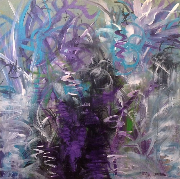 """Finding The Path"" Acrylic on Gallery Wrap Canvas, 30"" X 30"" www.pameladunmirefineart.com"