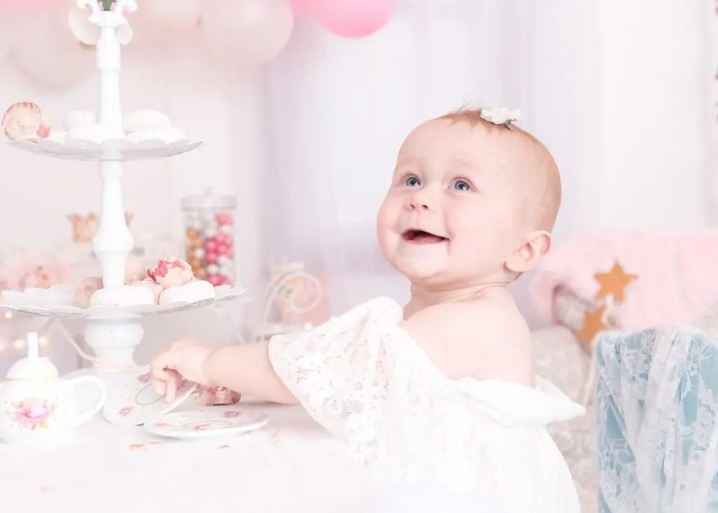 12 Month Girl Session Tea Party
