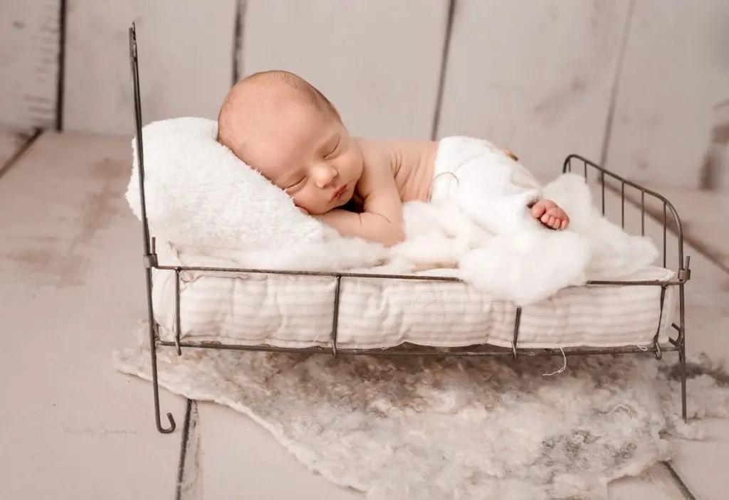 Newborn Boy Bed Photography