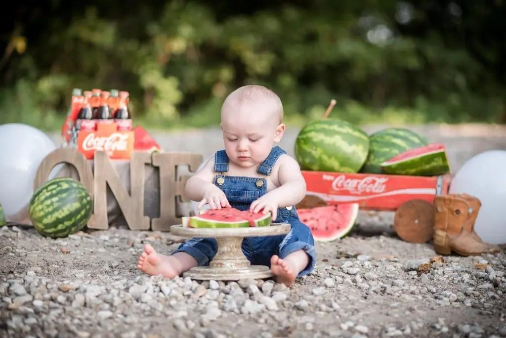 First Birthday Session Watermelon Smash