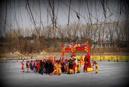 Ice Play in Qing Dynasty royalwear