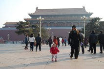 Pam and Isabel walking around the Forbidden City