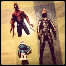 Chinese Quality Toys: Thor lost his head, Spiderman his legs, and Brainy Smurf his nose... all in the same day!