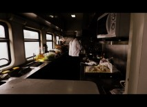 Chefs preparing for the first on-board meal of our trip