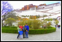 In front of the Potala