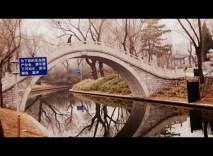 Pretty arched bridge at Purple Bamboo
