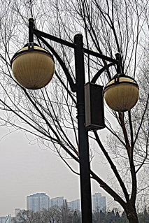 Streetlights throughout the park also boast speakers