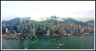 Hong Kong Island viewed from the 118th floor of the 100 Building