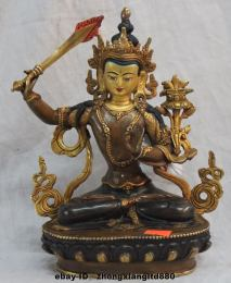 Manjushri, the Bodhisattva of Wisdom, sitting on a lotus seat (photo from heidicries.com)