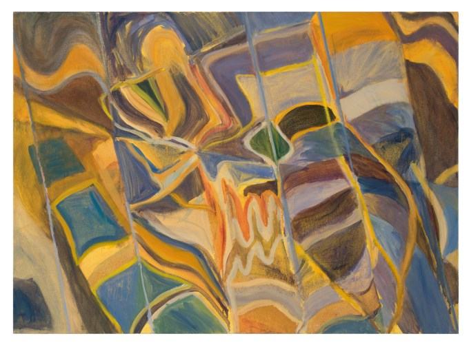 """""""Outside of Oceania"""", oil on canvas, 34"""" x 44"""", 2011"""