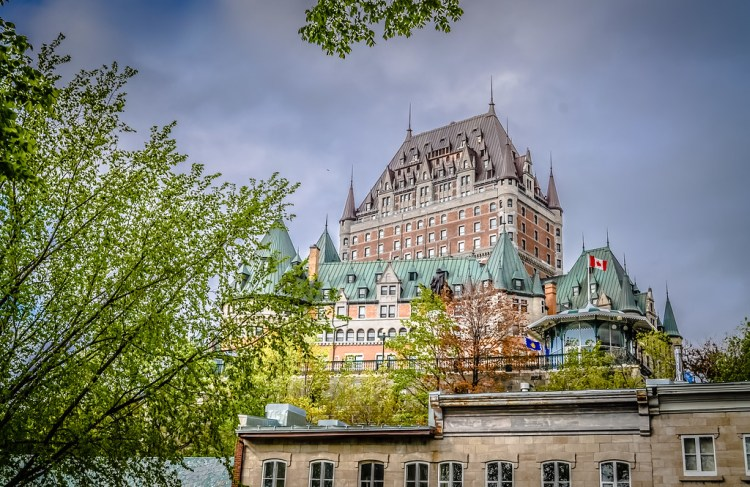 Château Frontenac from Montmorency Park in Québec City