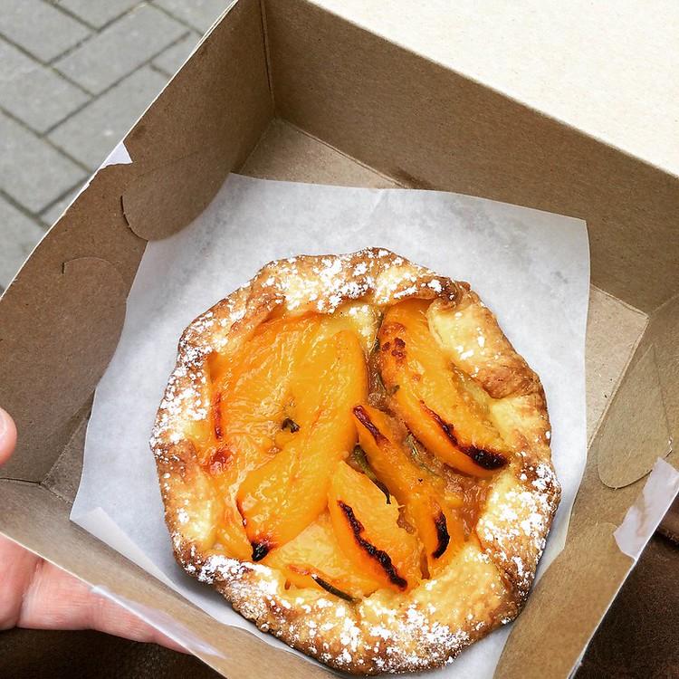 Peach & Rosemary tart from Terra Breads