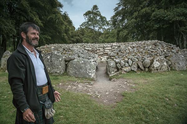 My tour guide, Ross Buchannan, at the Clava Carins near Culloden
