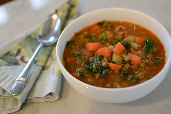 Lentil Stew with Kale and Sausage