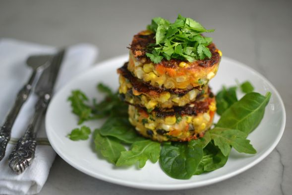 Corn Black Bean Fritters