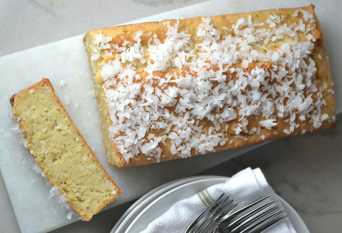 Almond Coconut Lime Loaf