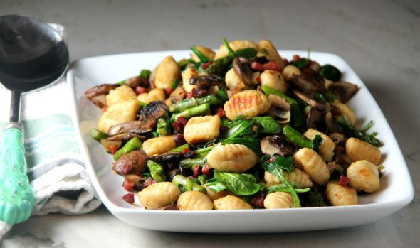 Seared Gnocchi with Bacon and Vegetables