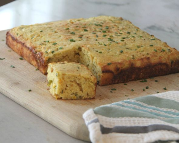 Cornbread with Jalapenòs and Chives