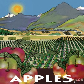 BC Apples digital art available in various sizes square