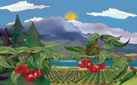 BC Cherries Art digital art available in various sizes
