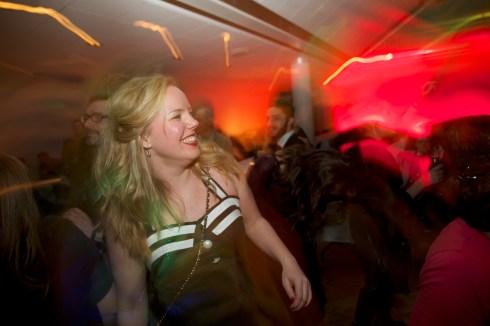 Linda Snecker på dansgolvet.