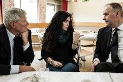 Lars Ohly, Anja Franck och Jonas Sjöstedt,