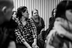 Jessica Wetterling medlem i Kommunal i Mölndal ställde frågor.