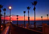 Oceanside pier at sunset by Sharon
