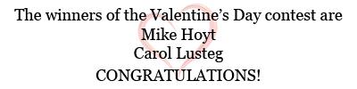 Valentine's Day Contest Winners