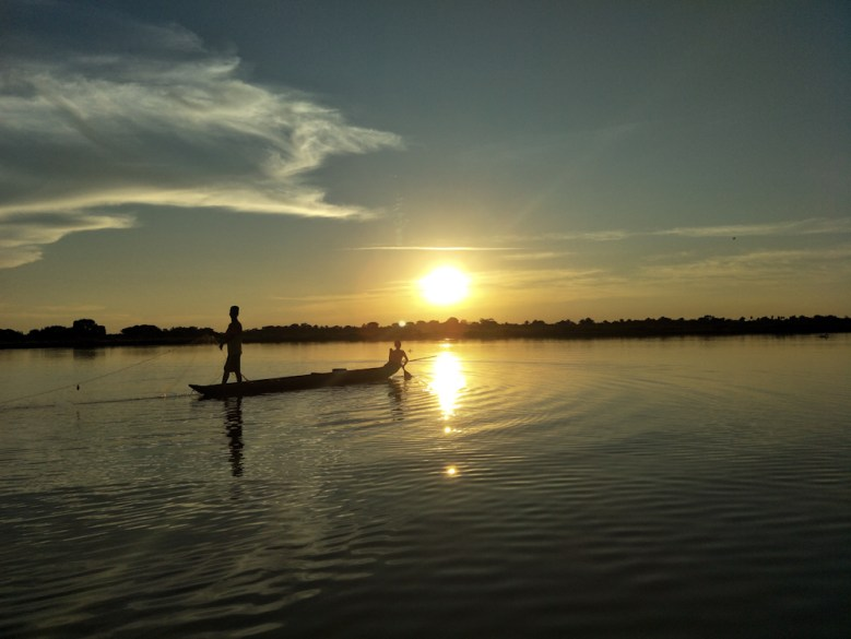 Sunset in Mompox, Magdalena River